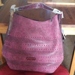 Nicole Lee Burgandy Handbag